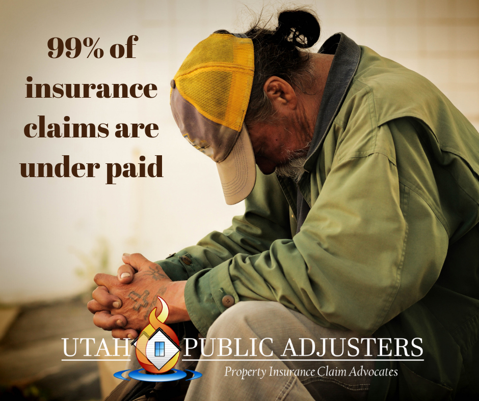 100% of insurance claims are under paid